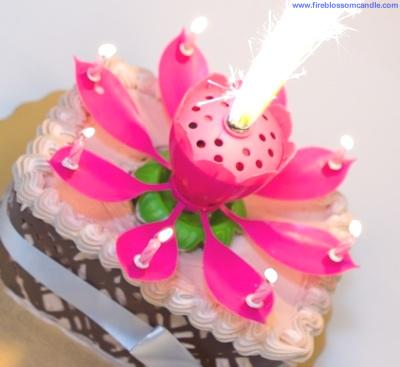 Fire Blossom Candle Unique Cake Candle That Makes Your Memories