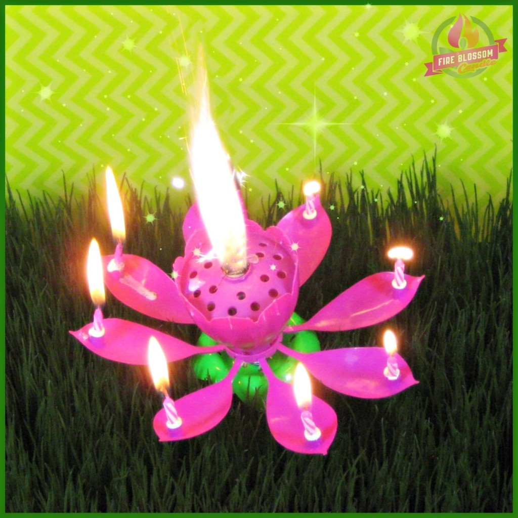 Purple Birthday Candle - Fire Blossom Candle